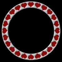 Silvery Crimson Hearts Frame by FantasyStock