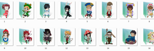 Ciel in Wonderland Folder Icons by Ginokami6