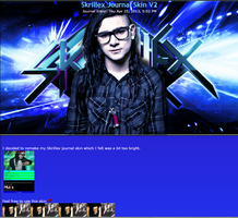 Skrillex Journal Skin V2 by DragonA7X
