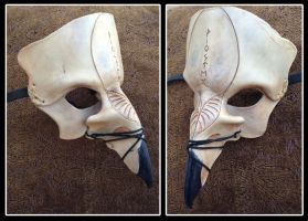 Leather Hawk Skull Fantasy LARP Mask by b3designsllc