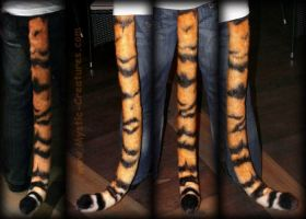 Airbrushed tiger tail by Mystic-Creatures