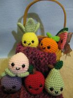 Kawaii Fruit by NerdyKnitterDesigns