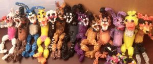 All FNaF Characters (Rainbow Loom) UPDATED by StormStrikeElectric