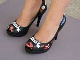 Tattoo Shoes In Action by gaelyn-face