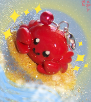 Crab Cell Phone Charm by XxViolentxLolitaxX
