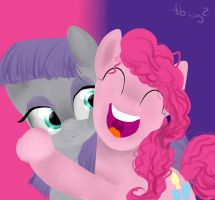 Pinkie and maud pie by thedutchbrony