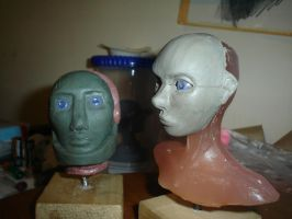 Puppet faces WIP 2 by XAVERIVS