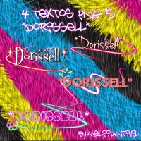 4 Textos PNG's Dorissell by Antivil