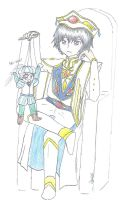 Prince Lelouch and Rolo Puppet by sunburntclouds