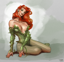 Poison Ivy: Weekly Trinquette Drawing Challenge by brainleakage