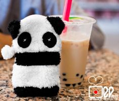 Panda and his Bubble Milk Tea by Mgbedt420