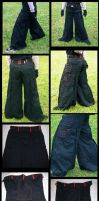 Baggy pleat pants by gryphonsshadow