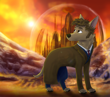 Doctor Woof Visits Gallifrey by Starrypoke