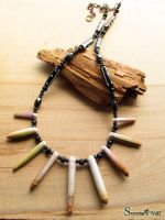 Sea urchin spines tribal necklace by SuvetarsWell