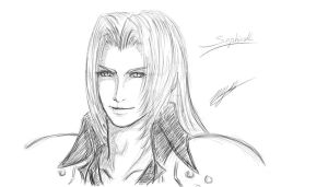 Smiling at you - Sephiroth by BahamutDeusModus