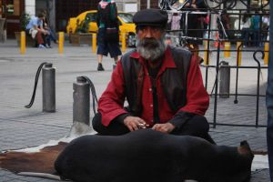 old man with dog by aydnahmet