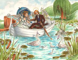 Swans in the Pond: DoA Contest by DeannaEchanique