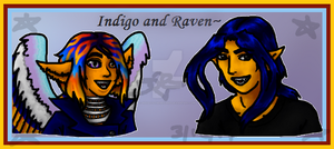 Indigo and Raven Headshots by IndigoOfTheHeavens