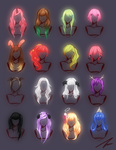 *Updated 1.24.2014* Hair Doodles by Po-ru