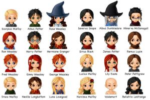 Harry Potter Chibis by draco-hermione-club