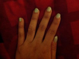Disney Snow Queen Elsa's Dress Nail Polish Design by Magic-Kristina-KW