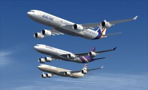 Airbus A340-500 Formation 1 by B737TheAirliner