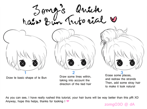 Hair Bun Tutorial by zomgO3O