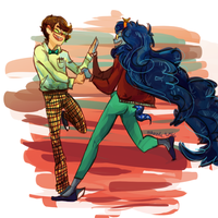 John and Vriska 50'stuck by Kayia