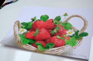 Drawing Strawberries by keillly