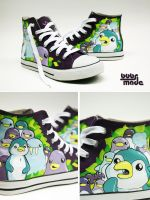 Penguin Chucks by Bobsmade