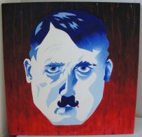 Hitler with a handlebar mustache by Ompabop