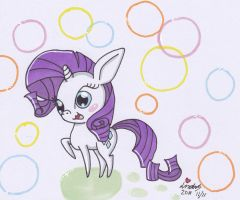 My petite pony Rarity by Zeloshoney