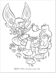Coloring Page - Goblins Drool, Fairies Rule! by gameogami