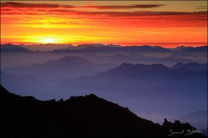 Sunrise over Italian Alps by samuelbitton