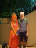 Ohayocon 2013 - Finn The Human and Flame Princess by Kamara666