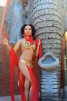 Slave Jasmine and Jabba the Elephant by MomoKurumi