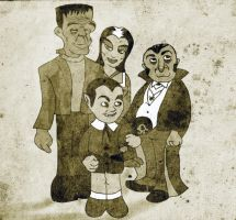 worst munsters drawing by Makinita