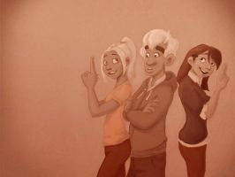 Trio in sepia by Prydester