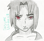 Sasuke Uchiha (Shaded) by EzmeAG98