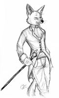 Dapper Jackal by Inonibird
