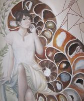 Woman with Ammonites by burstintoflame