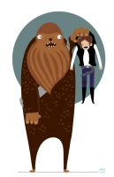 Chewbacca and han solo by mjdaluz