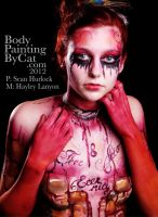 Hung Woman noose neck Bodmin Gaol Goth bodypaint by Bodypaintingbycatdot