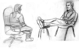 people sitting on chairs by xAndyLG