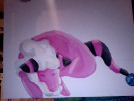 Flaaffy Painting W.I.P by brindlesongart