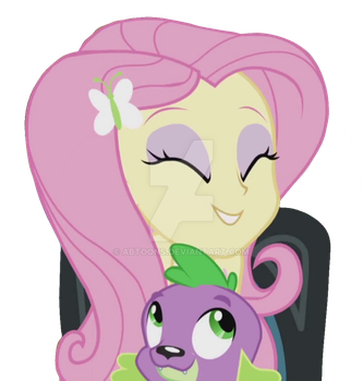 EQG Rainbow Rocks Fluttershy and Spike Vector by ABToons