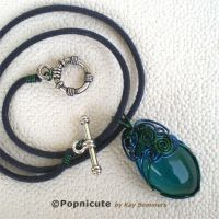 ++SOLD++ Peacock Swirl by popnicute