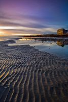 low tide, Worthing Beach by JakeSpain
