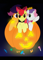 Cutie Mark Crusaders Halloween by The-Clockwork-Robot