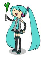 Adventure Time Miku by jen-den1